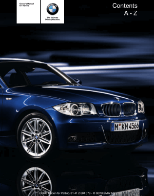 BMW 135i Convertible 2011 Owner's Manual