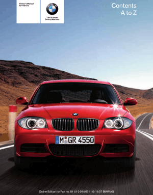 BMW 135i Coupe 2008 Owner's Manual