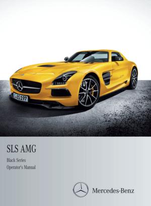 Mercedes Benz 2014 SLS AMG Black Edition Owner's Manual
