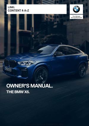 2020 BMW X6 Car Owners Manual