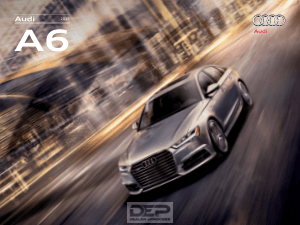 2017 Audi A6 Car Owners Manual