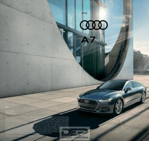 2019 Audi A7 Car Owners Manual