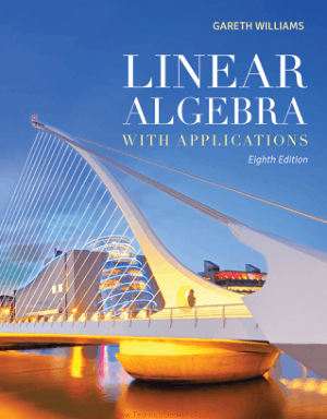 Linear Algebra with Applications 8th Edition By Gareth Williams