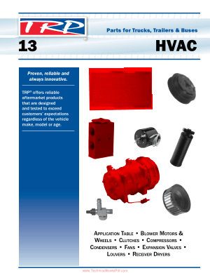 Parts for Trucks Trailers and Buses HVAC