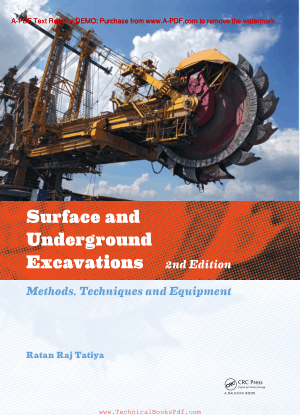 Surface and Underground Excavations 2nd Edition By Ratan Raj Tatiya