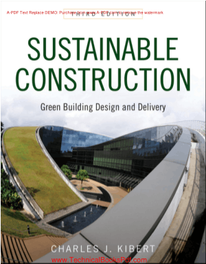 Sustainable Construction Green Building Design and Delivery Third Edition By Charles J Kibert