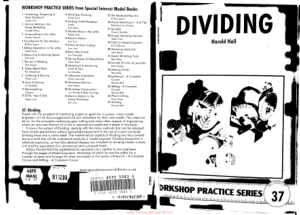 Workshop Practice Series 37 Dividing