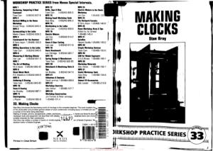 Workshop Practice Series 33 Making Clocks