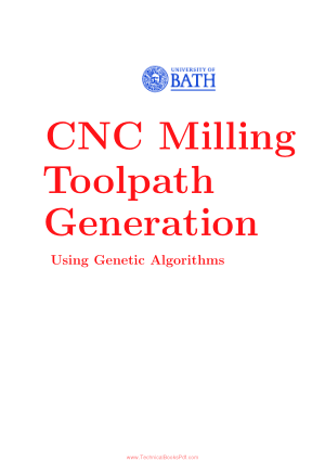 CNC Milling Toolpath Generation Using Genetic Algorithms