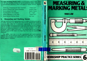 Workshop Practice Series 06 Measuring and Marking Metals