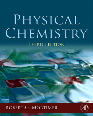 Physical Chemistry Third Edition By Robert G Mortimer