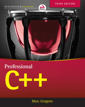 Professional C++ 3rd Edition By Marc Gregoire