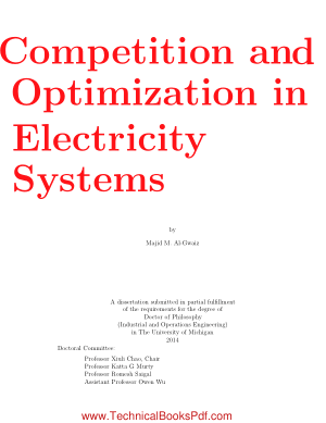 Competition and Optimization in Electricity Systems by Majid M Al Gwaiz