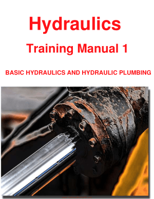 Hydraulics Training Manual 1 Basic Hydraulics and Hydraulic Plumbing