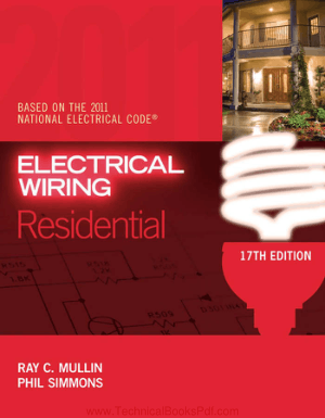 Electrical Wiring Residential 17th Edition By Ray C Mullin and Phil Smimmons