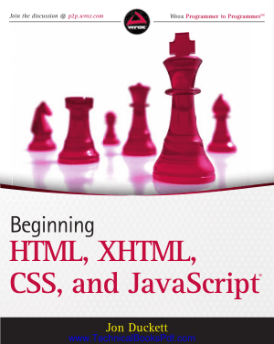 Beginning HTML, XHTML, CSS and JavaScript