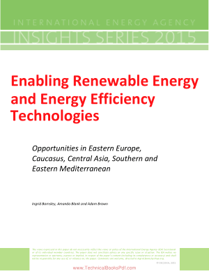 Enabling Renewable Energy and Energy Efficiency Technologies