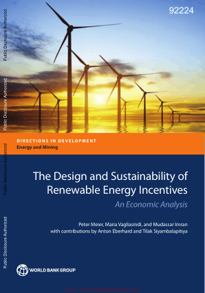 The Design and Sustainability of Renewable Energy Incentives