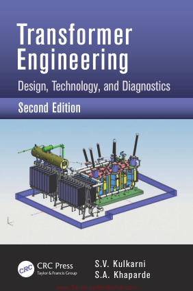Transformer Engineering Design Technology and Diagnostics 2nd Edition By S V Kulkarni and S A Khaparde