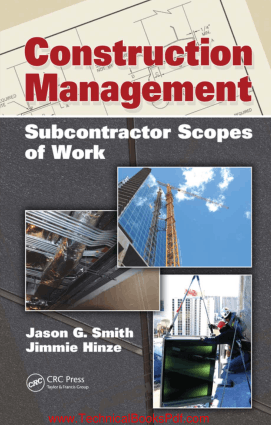 Construction Management Subcontractor Scopes of Work